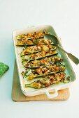 Gratinated ratatouille courgettes