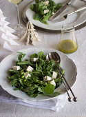 Three-pea salad with mint dressing