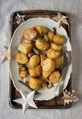 Garlic and rosemary roast potatoes