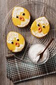Funny Easter chick biscuits