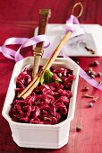 Christmas red cabbage with cinnamon