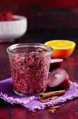 Mulled wine red cabbage with cinnamon and onions