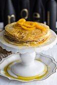 Crepe suzette pancake cake (Christmas)