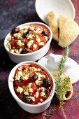 Feta and tomato gratin