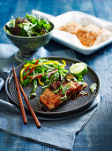 Teriyaki salmon with vegetable