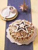 A festive marzipan and walnut cake for Christmas