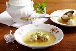 Dumpling soup (Tyrol)