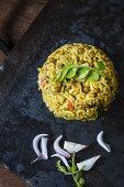 Masoor Dal Khichdi (lentil rice dish, India)