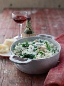 Spinach and gorgonzola risotto