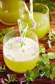 Herb lemonade with ground ivy