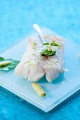 Steamed cod with ginger