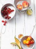 Various fruits for homemade jam