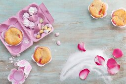Decorations for spring muffins
