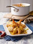 Prawns in a fruity curry sauce