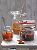 Spicy curry sauce, BBQ marinade and BBQ sauce