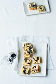 Poppyseed and vanilla slices