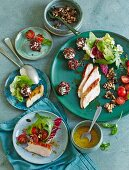 Selection of salads to put together yourself