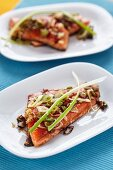 Oriental marinated salmon trout