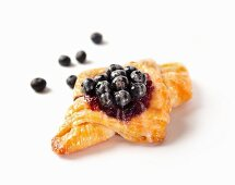 Blueberry puff pastry