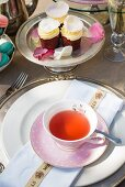 Tea and cakes for afternoon tea