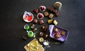 Decorated pralines as a gift