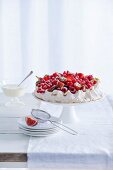 Pavlova with red fruit