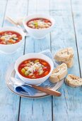 Minestrone with pasta and winter vegetables