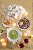 A four-course, Mediterranean Christmas meal