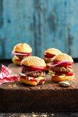 Mini hamburgers for a finger food party