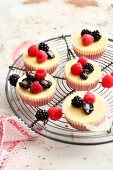 Blackberry and cream cheese tartlets with lime