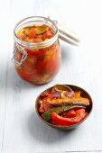 A jar of ratatouille