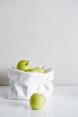 Apples in a paper bag