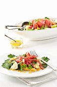 Melon salad with Proscuitto