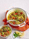 Lamb meatball casserole