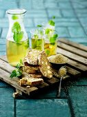 Almond biscuits and peppermint tea