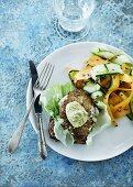 Cod steak wrapped in tarragon