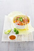 Glass noodles with marinated chicken and mango (Thailand)