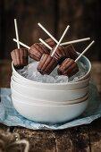 Nutella ice cream sticks