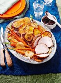 Quince-glazed turkey breast