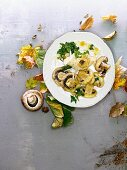 Mushrooms with Parmesan croustade