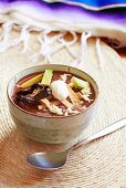 Aztec bean soup