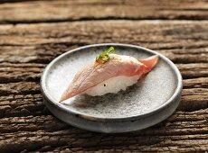 Nigiri sushi with fried tuna fish