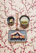 A sushi face