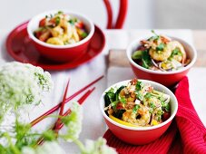 Coconut prawn stir-fry