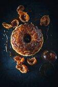 Pudding mit Feigen, Walnüsse und Ahornsirup