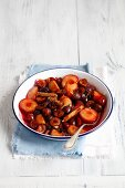 Plum compote with cinnamon, anise and cardamom