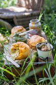 Camembert pastries for a picnic