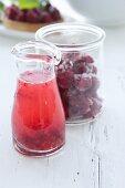Home-made raspberry juice