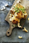 Chicken meatballs with cashew nuts and thyme (Thailand)