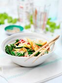 An oriental vegetable dish with glass noodles